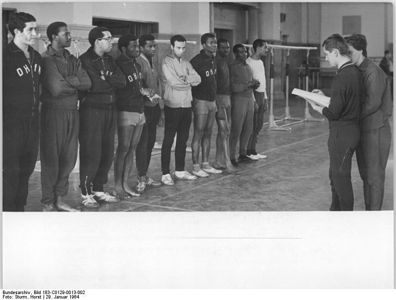 Leipzig, DHfK, Turnhalle, ausländische Studenten