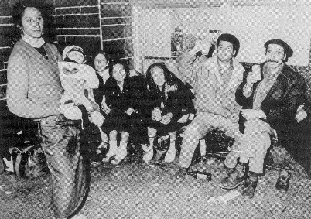 Rumänischen Flüchtlinge auf den Berliner Ostbahnhof, 1990