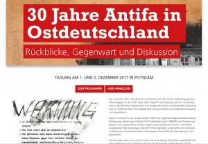 """Tagung """"30 Jahre Antifa in Ostdeutschland"""""""