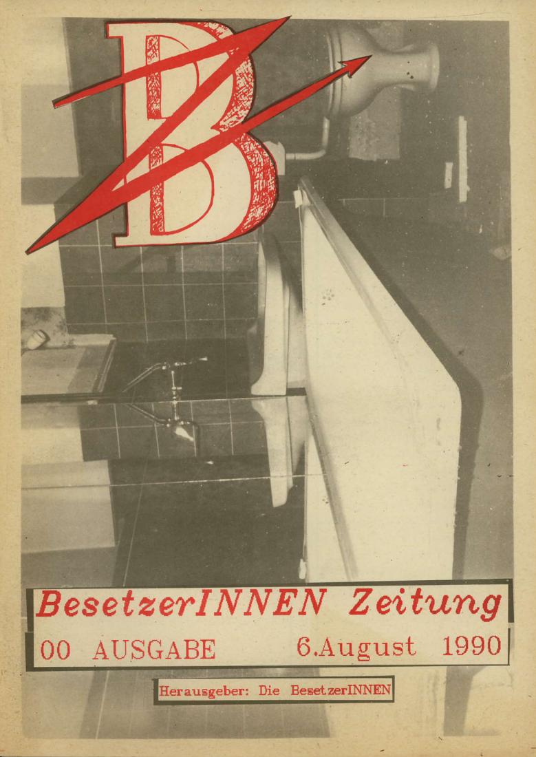 BesetzerInnenZeitung, Nr. 00 vom 6. August 1990