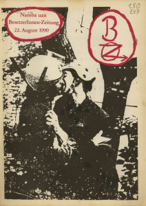 BesetzerInnenZeitung, Nr. 1 vom 22.08.1990