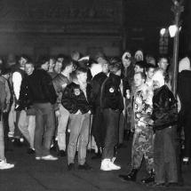 22. Januar 1990: Mitglieder der Republikaner und andere Neonazis benutzen die Leipziger Montagsdemo für Ihre faschistische Propaganda.