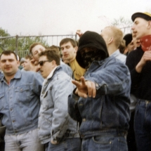 Frühjahr 1990: Nazi-Hools des BFC Dynamo.