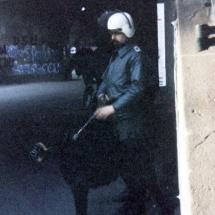 Frühjahr 1990: Volkspolizei an der Kreuzung Ecke Schönhauser.