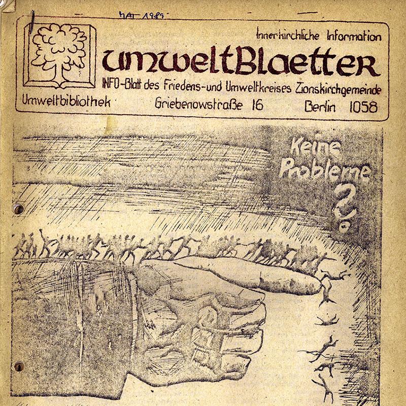 Umweltblätter vom Mai 1989