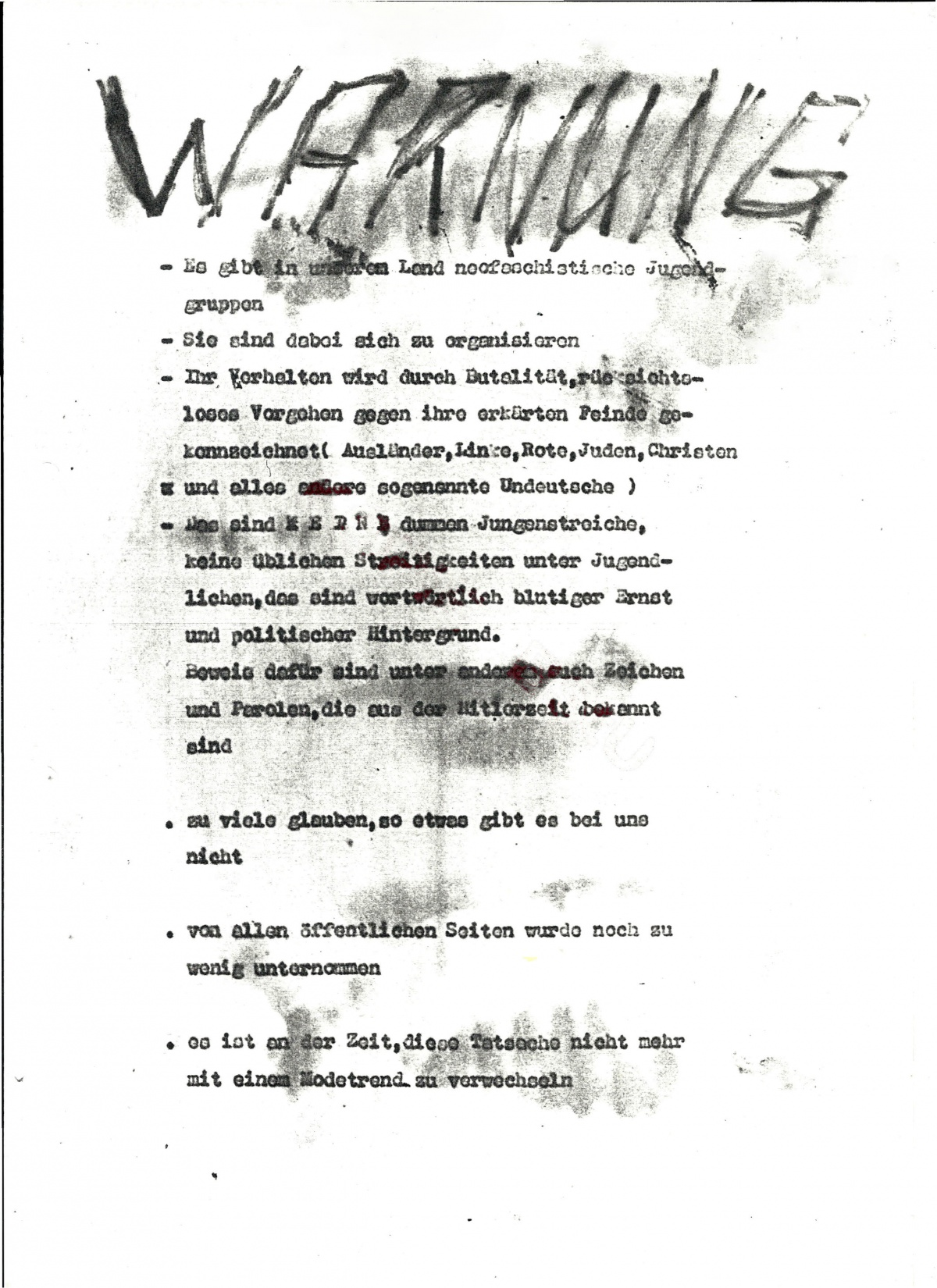 Antifa Potsdam - Flugblatt vom 6.November 1987
